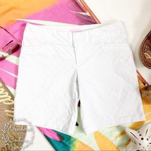 Lilly Pulitzer White Bermuda Diamond Shorts